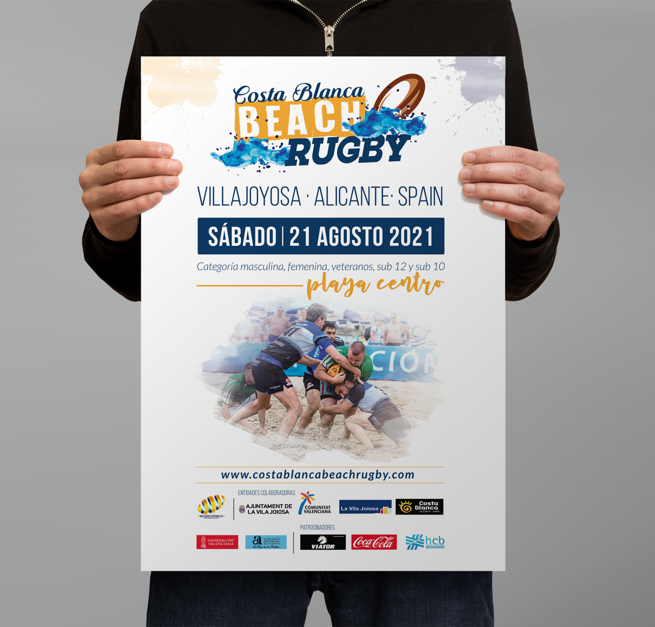 Cartel Costa Blanca Beach Rugby